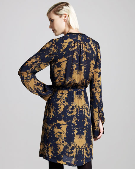 Julien Printed Wrap Dress