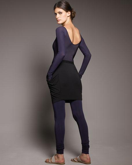 Long-Sleeve Scoop-Back Bodysuit