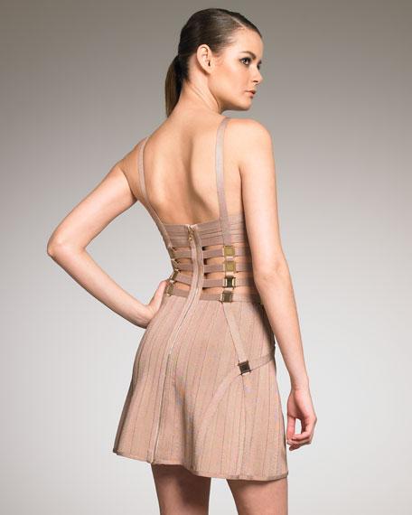 Strip Bandage Dress