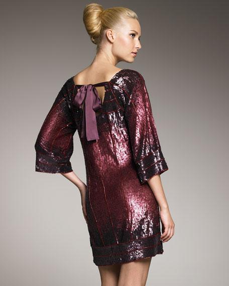 Sequin Ombre Shift Dress