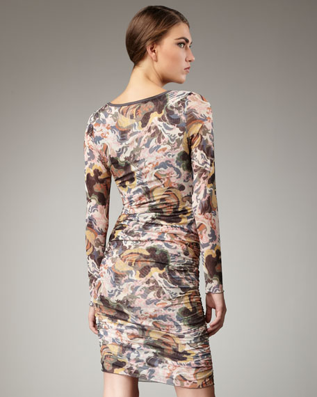 Gosling Printed Mesh Dress