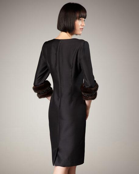 Mink-Cuff Dress