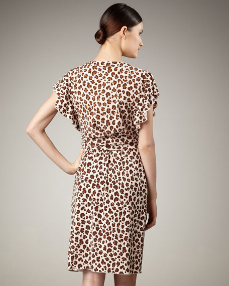 Gladys Leopard-Print Dress