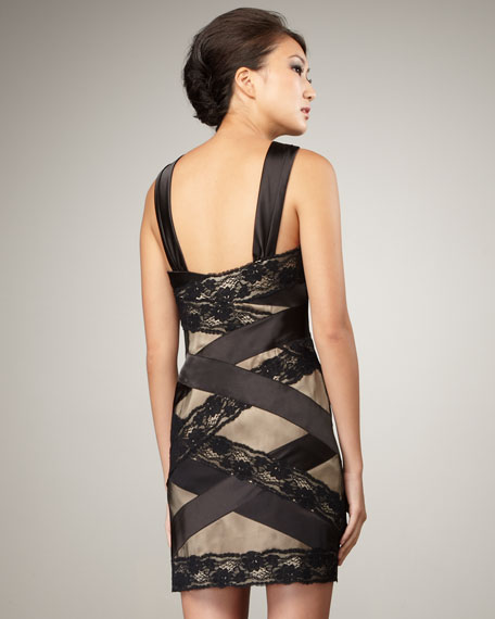 Mixed-Media Crisscross Dress