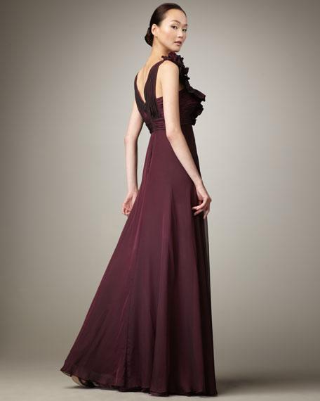 Iridescent Empire-Waist Gown