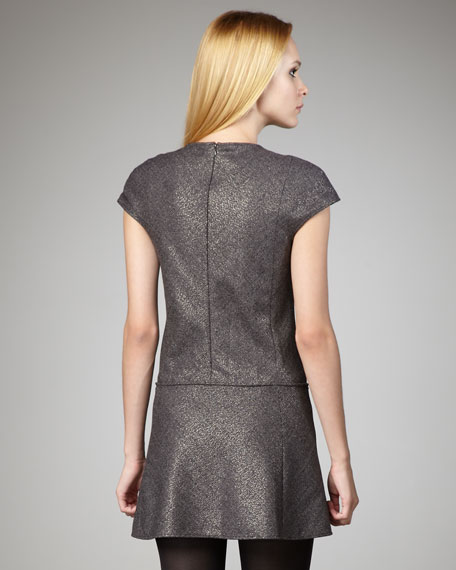 Olpia Shiny Tweed Dress