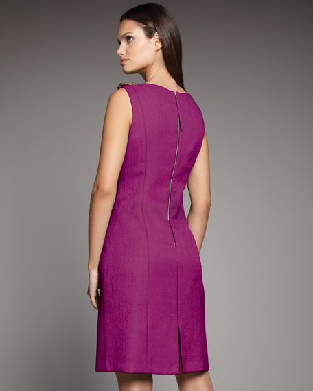High-Neck Drape Dress