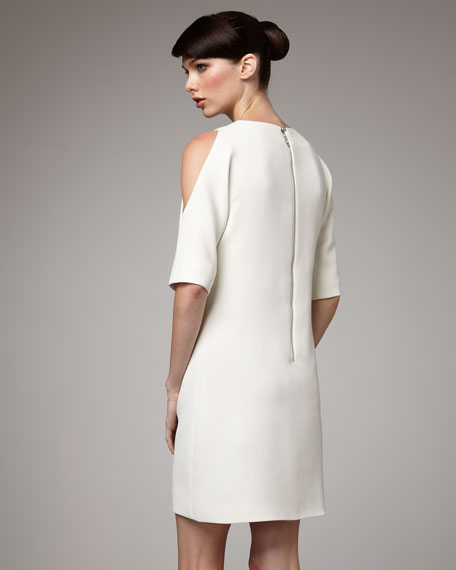 Shoulder-Cutout Dress