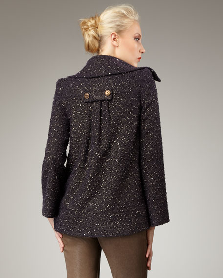 Kata Sequined Pea Coat