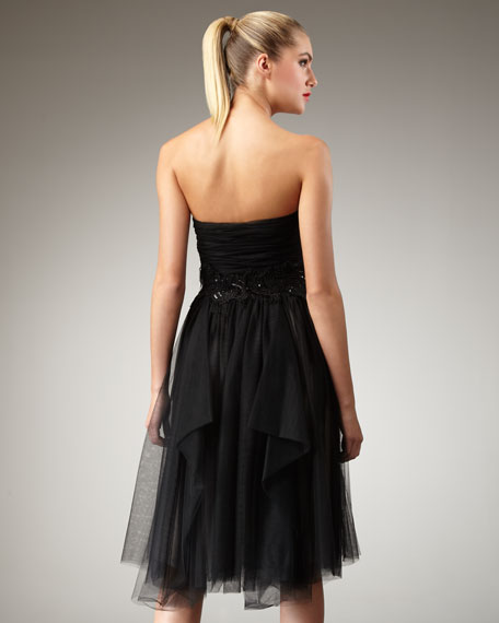 Paula Embellished Strapless Dress