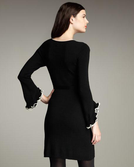 Ruffled Contrast Dress