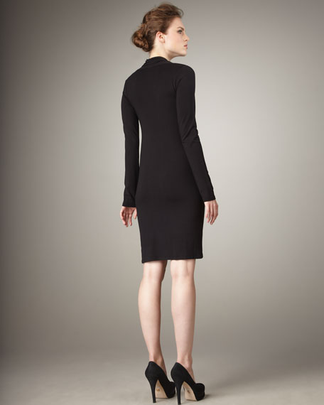 Cowl-Neck Knit Dress