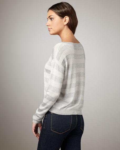 Shimmer-Stripe Sweater