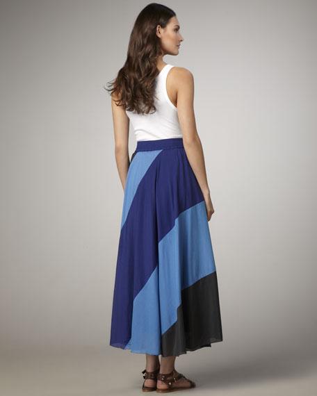 June Colorblock Maxi Skirt