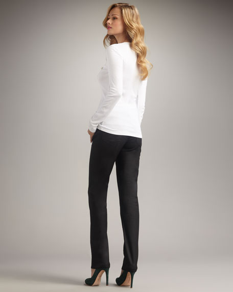 Cigarette Twill Jeans, Black