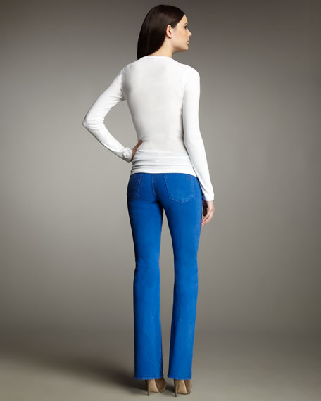 Grace Boot-Cut Jeans, Bright Color Washes