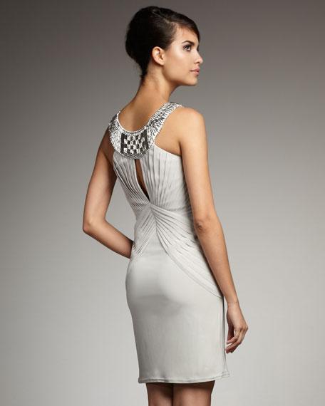 Grecian Scoop Neck Dress