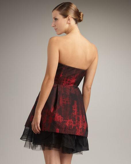 Tulip-Skirt Strapless Dress