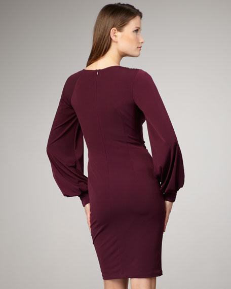 Long-Sleeve Asymmetric Dress