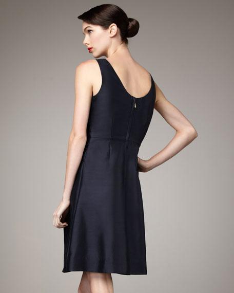 jillian bow-front dress
