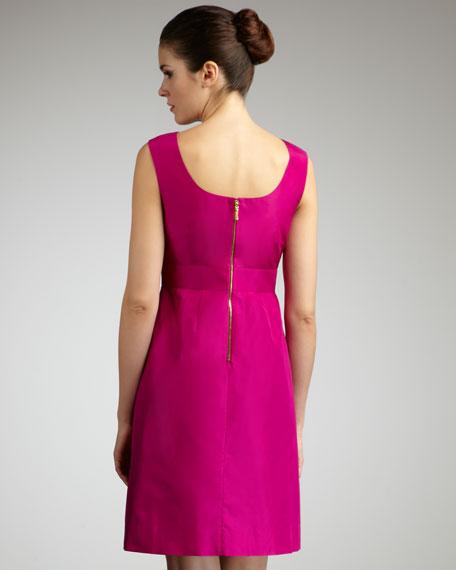 Deanna Pleated Silk Dress