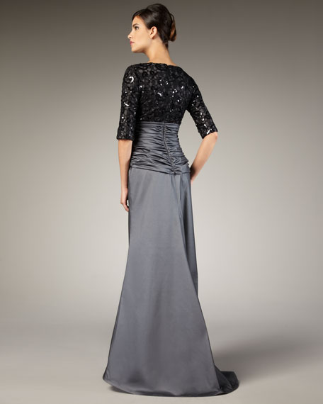 Lace and Sequin Bodice Gown