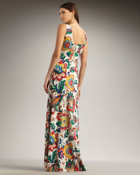 Wildflower-Print Maxi Dress