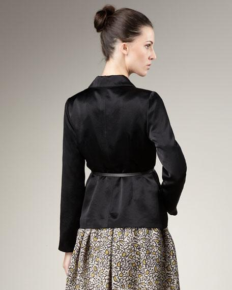 Belted Satin Jacket