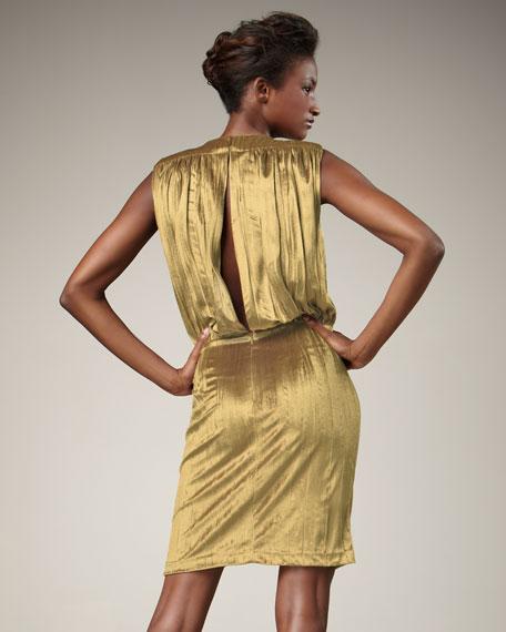 Draped Velvet Dress