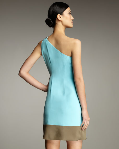 One-Shoulder Draped Dress