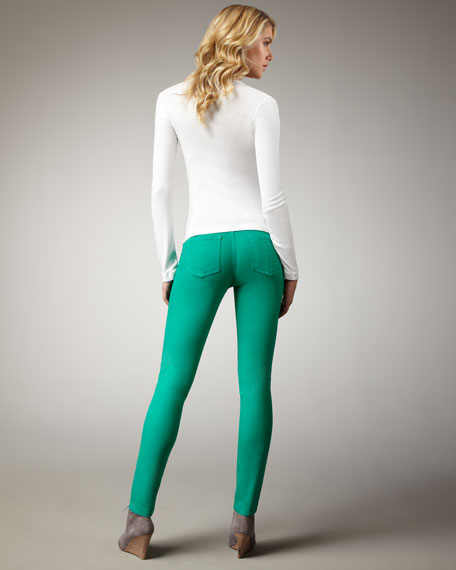 The Skinny Kelly Green Jeans