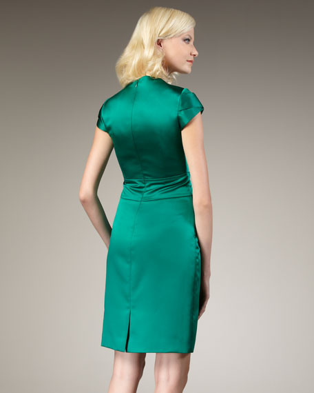 Cap-Sleeve Embellished Sheath Dress, Women's