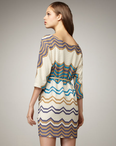 Three-Quarter-Sleeve Knit Dress, Women's