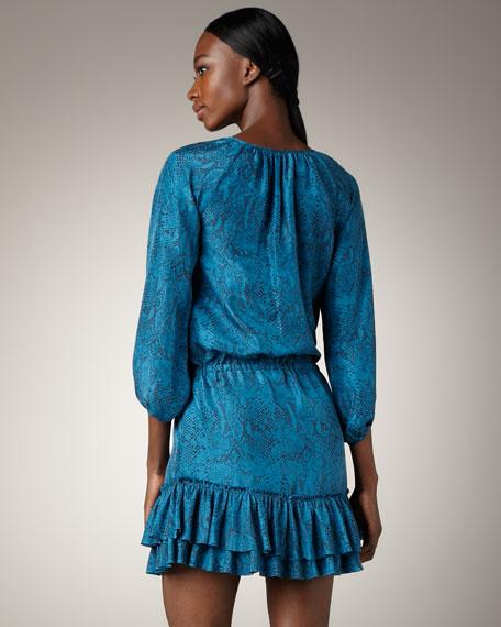 Python-Print Ruffle Dress