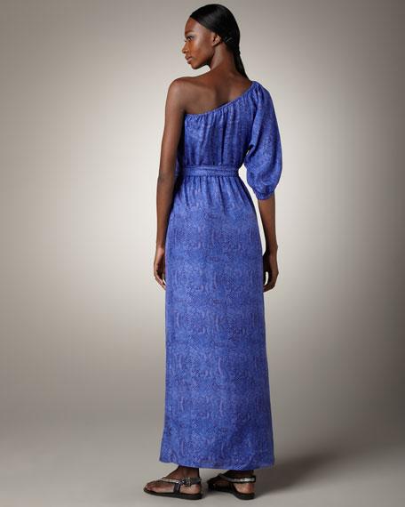 Python-Print Silk Gown