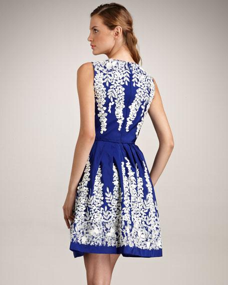 Faille Floral Dress