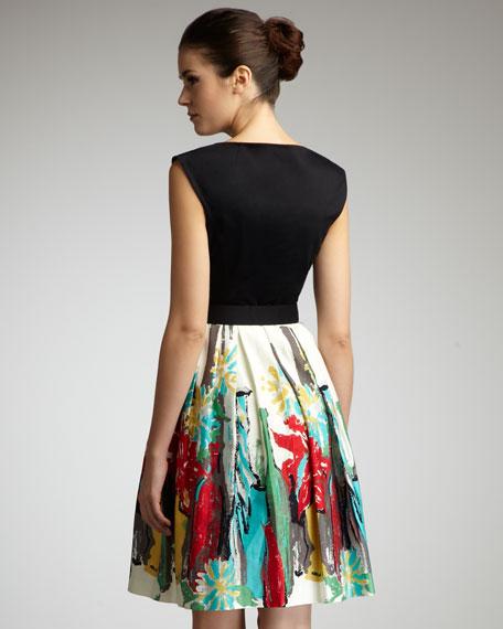 Sabrina Printed Dress