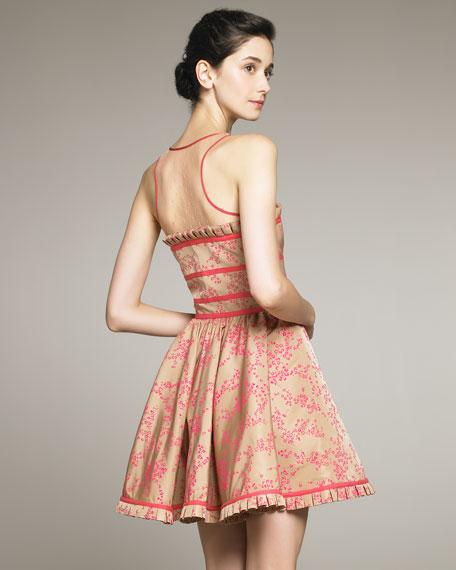 Sleeveless Full-Skirt Dress