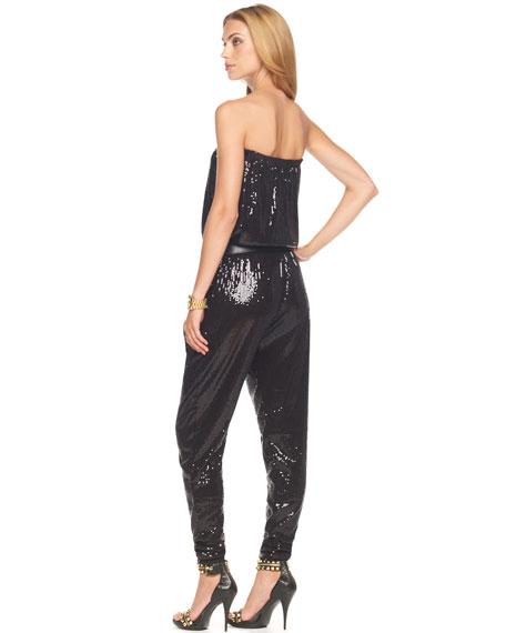 Belted Sequin Jumper