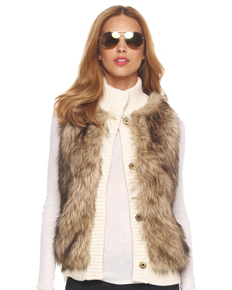 Faux-Fur Sweater Vest