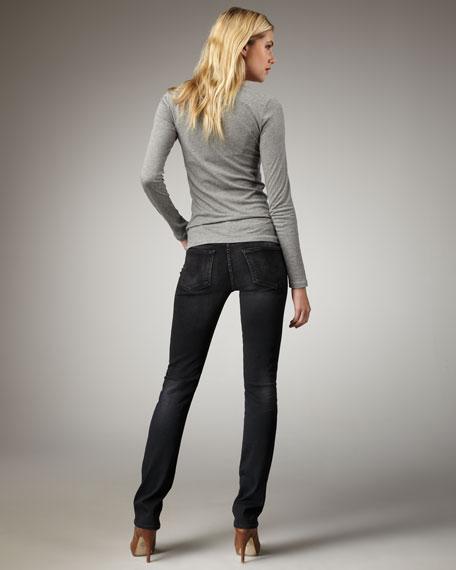 Ava Poet Straight-Leg Jeans