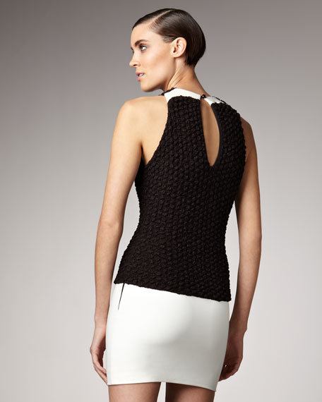 Knit-Top Combination Dress
