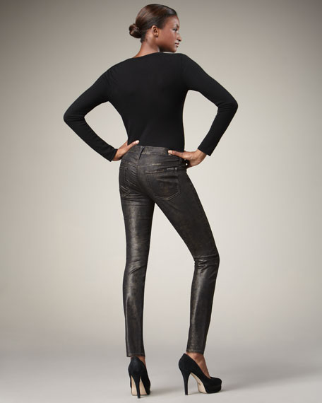 Skinny Snake-Print Jeans