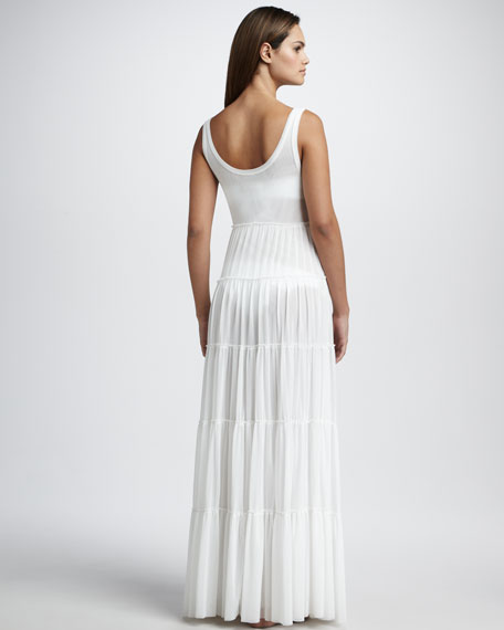 Tiered Cover-Up Maxi Dress