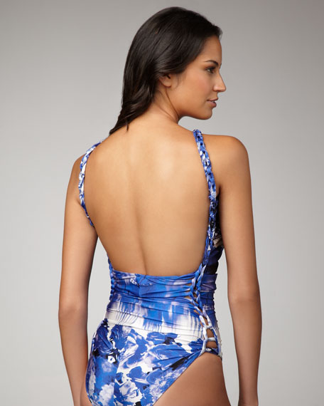 Abstract-Print One-Piece Swimsuit