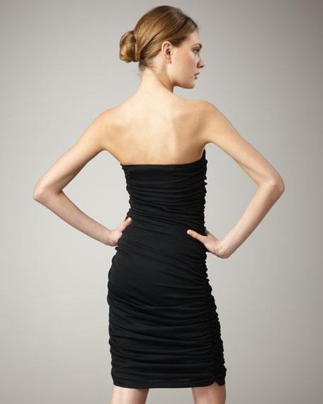 Liquid Jersey Dress, Black