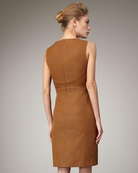Crosshatch Dress, Caramel