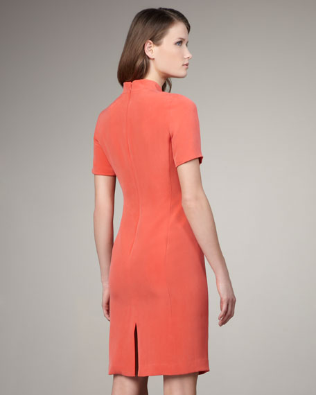 Eleonora Collared Silk Dress