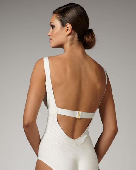 Basic Bandage Swimsuit, Ivory