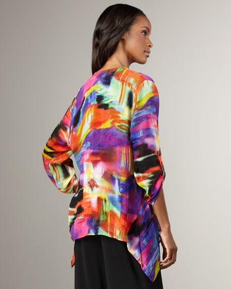 Painterly-Print Jacket